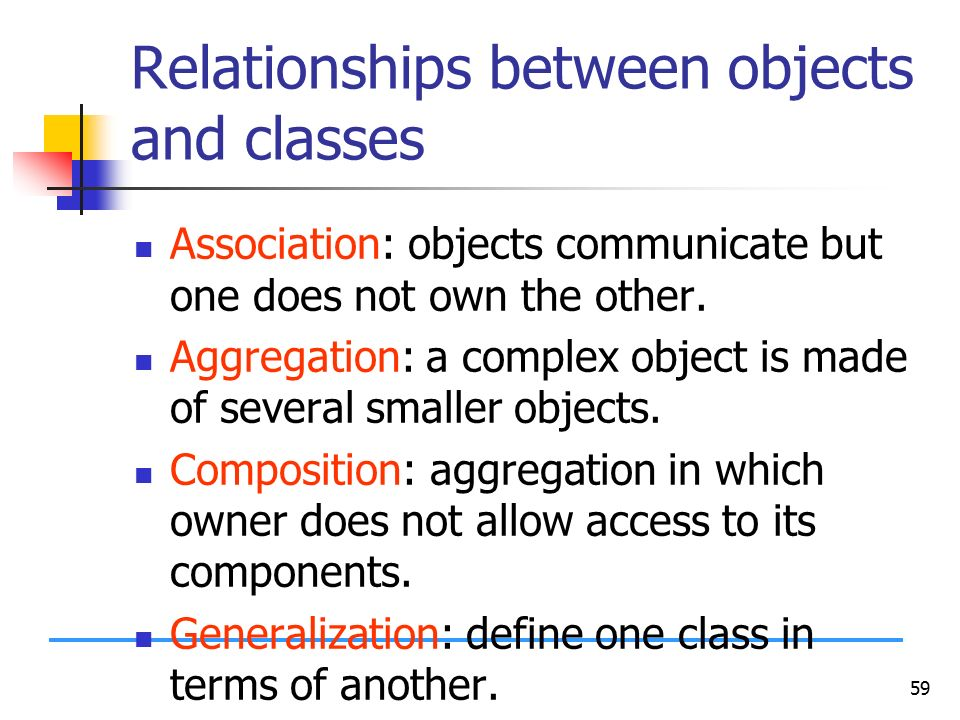 what is class explain the relationship between classes and objects