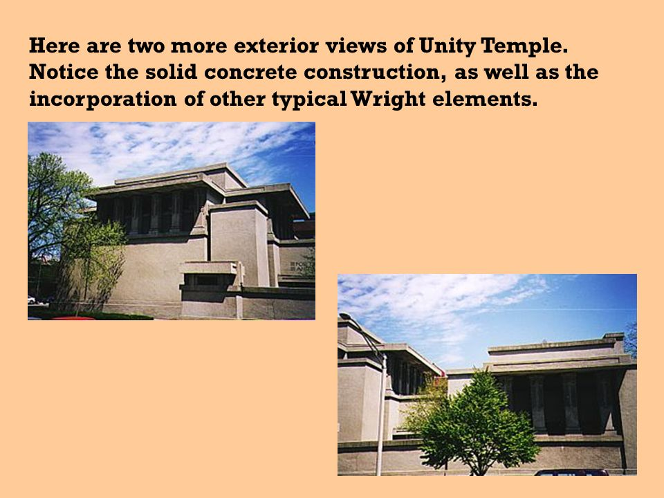 Here are two more exterior views of Unity Temple