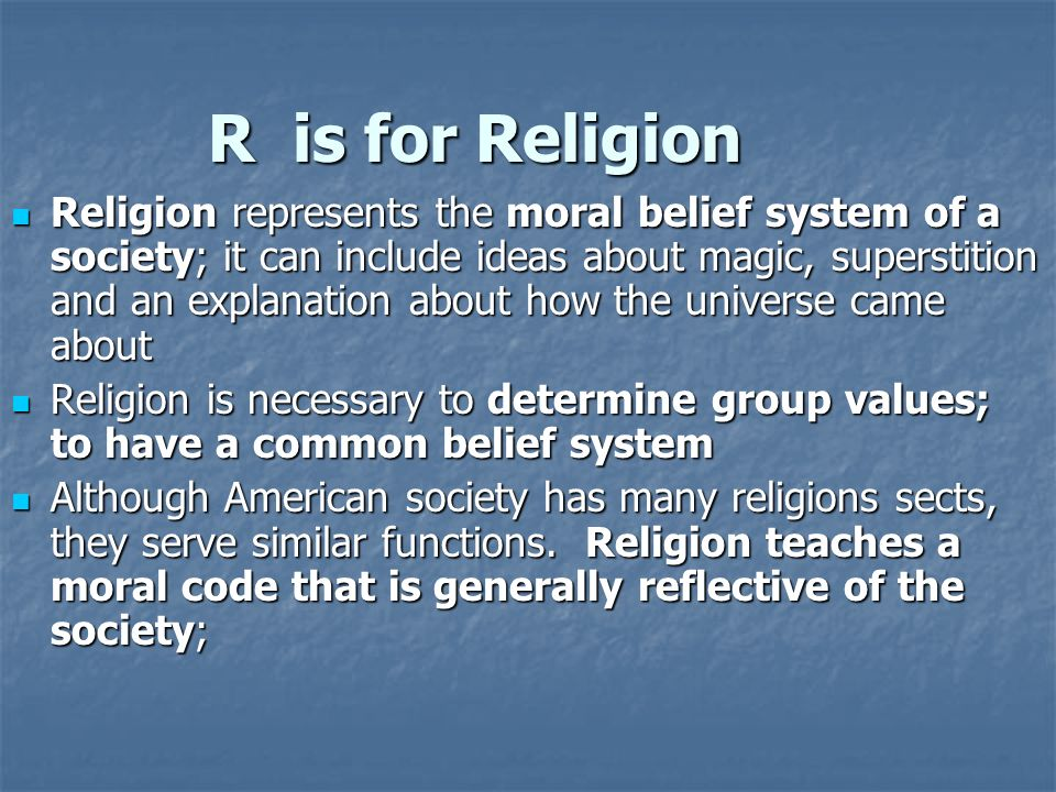 R is for Religion