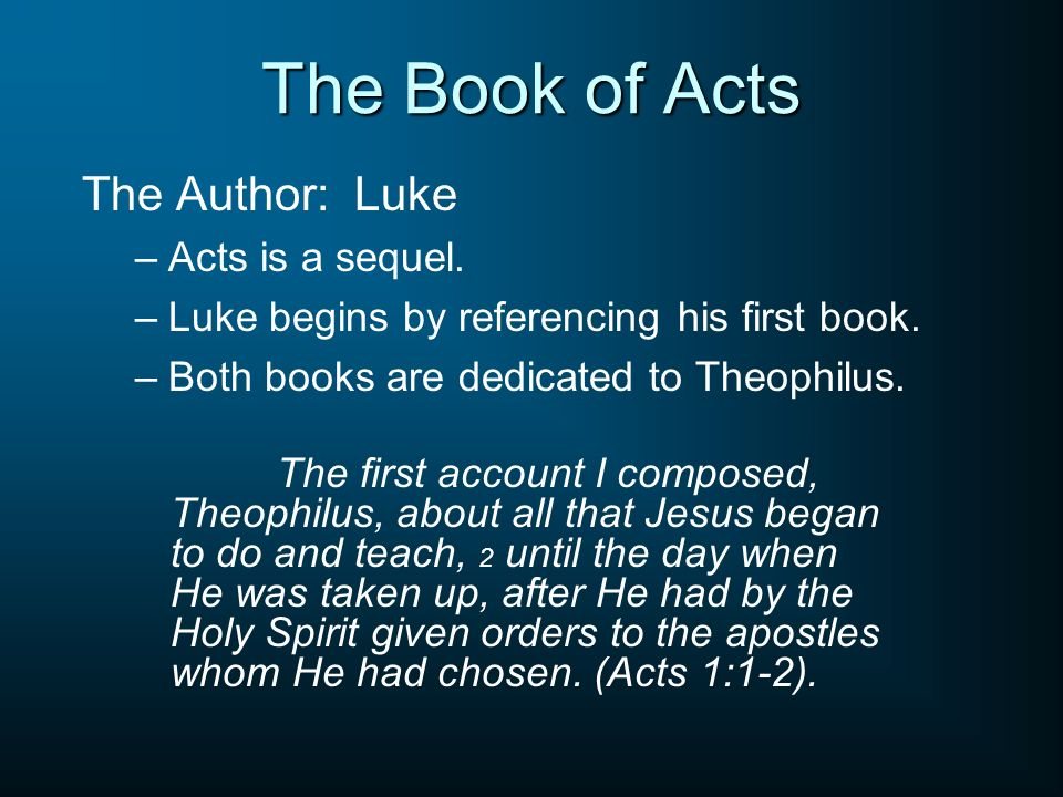 the book of luke and acts essay Examine the historical, cultural, and literary background 3  models from luke-acts by  luke blind poor, which would return a book related to the.