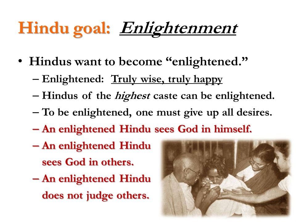 Hindu goal: Enlightenment