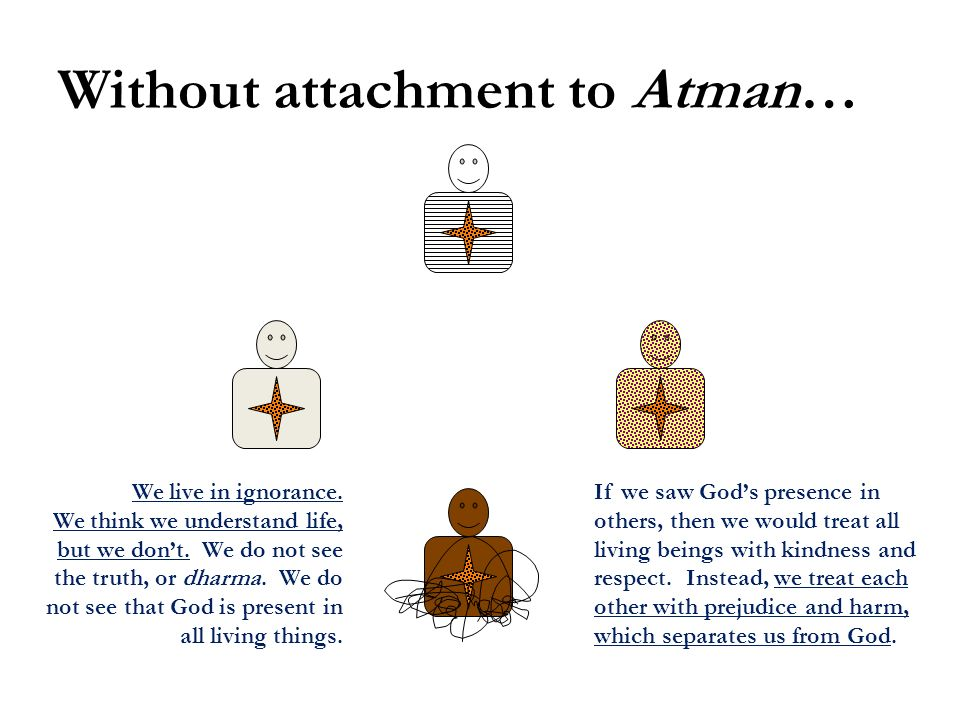 Without attachment to Atman…