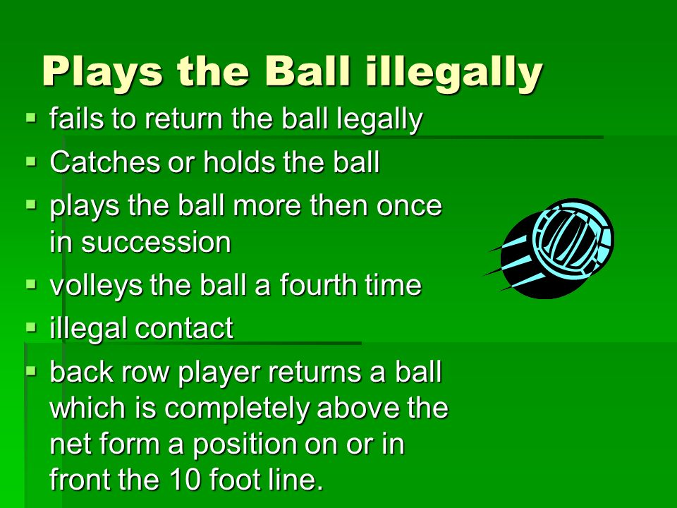 Plays the Ball illegally
