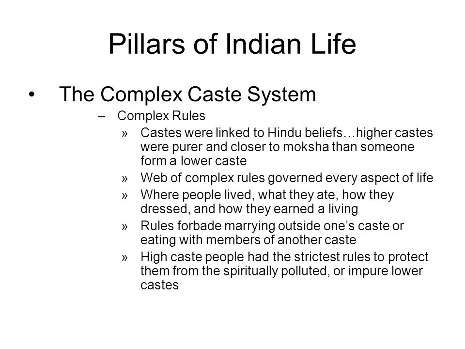 caste system in india ppt