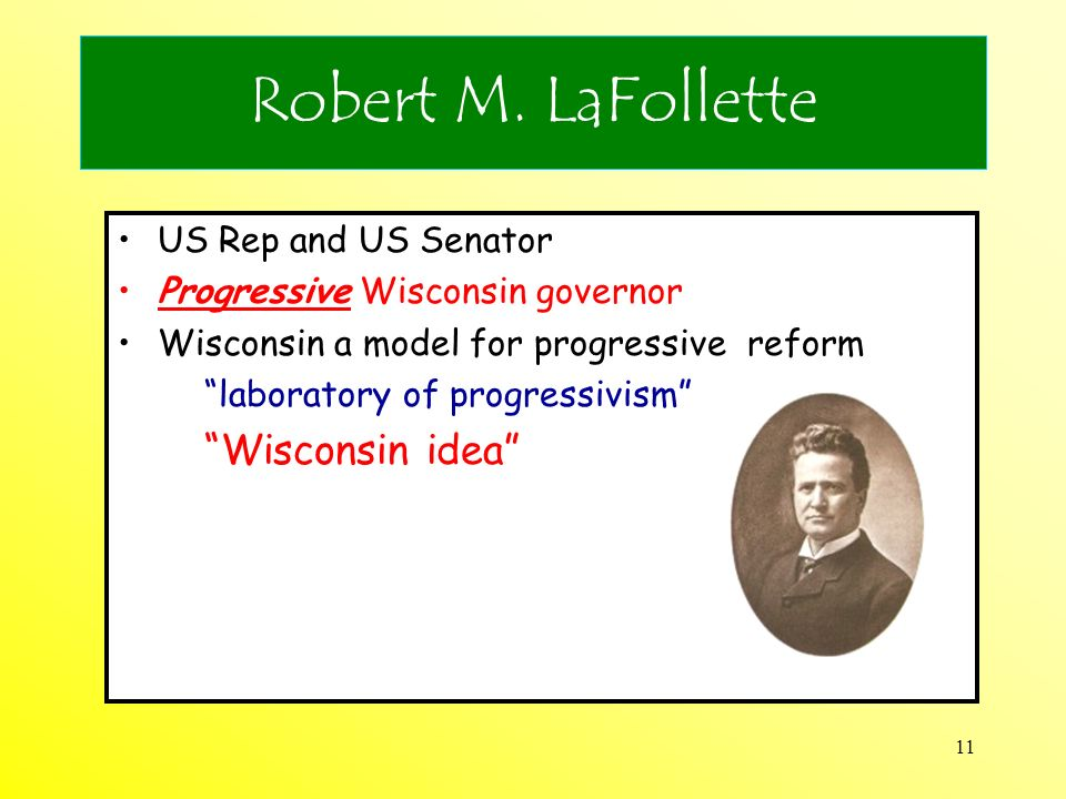 Robert M. LaFollette US Rep and US Senator