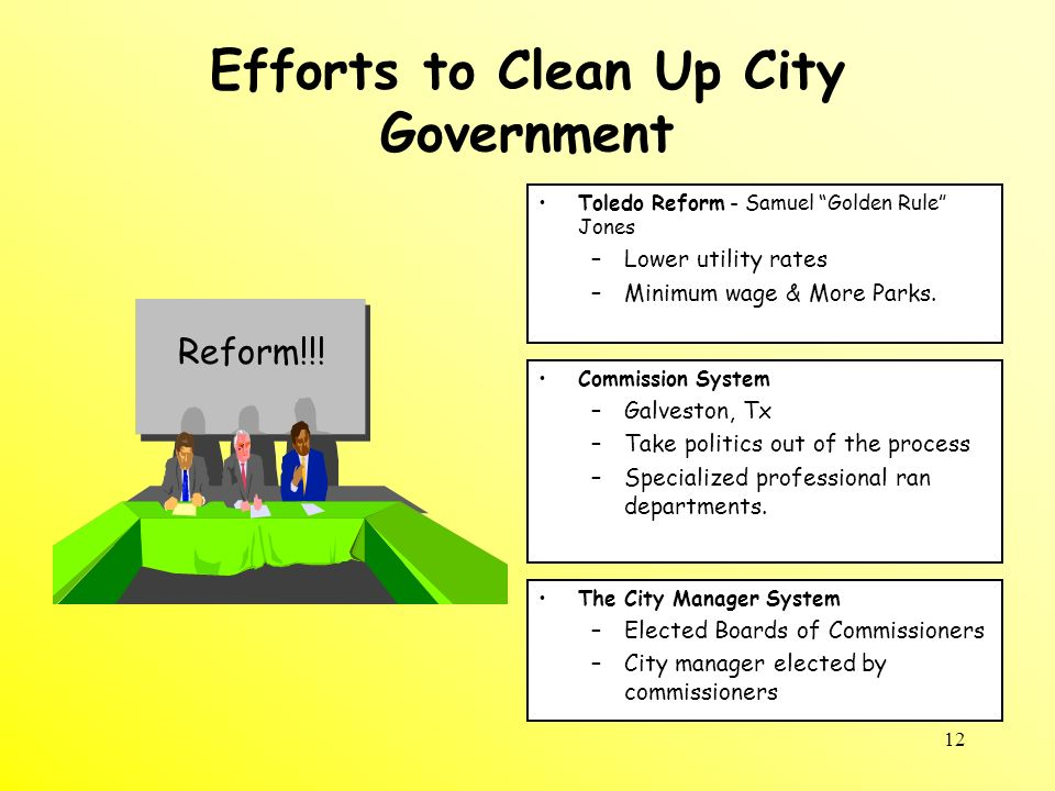 Efforts to Clean Up City Government