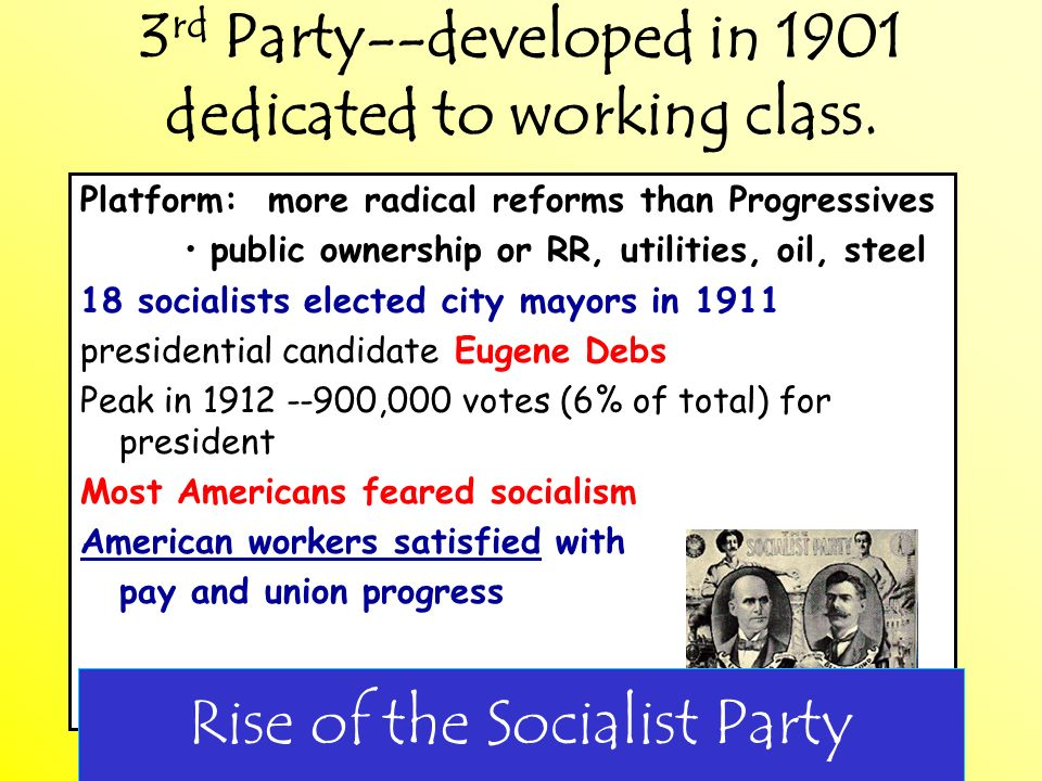 Rise of the Socialist Party