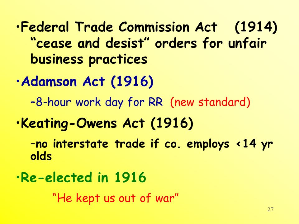 Federal Trade Commission Act (1914)