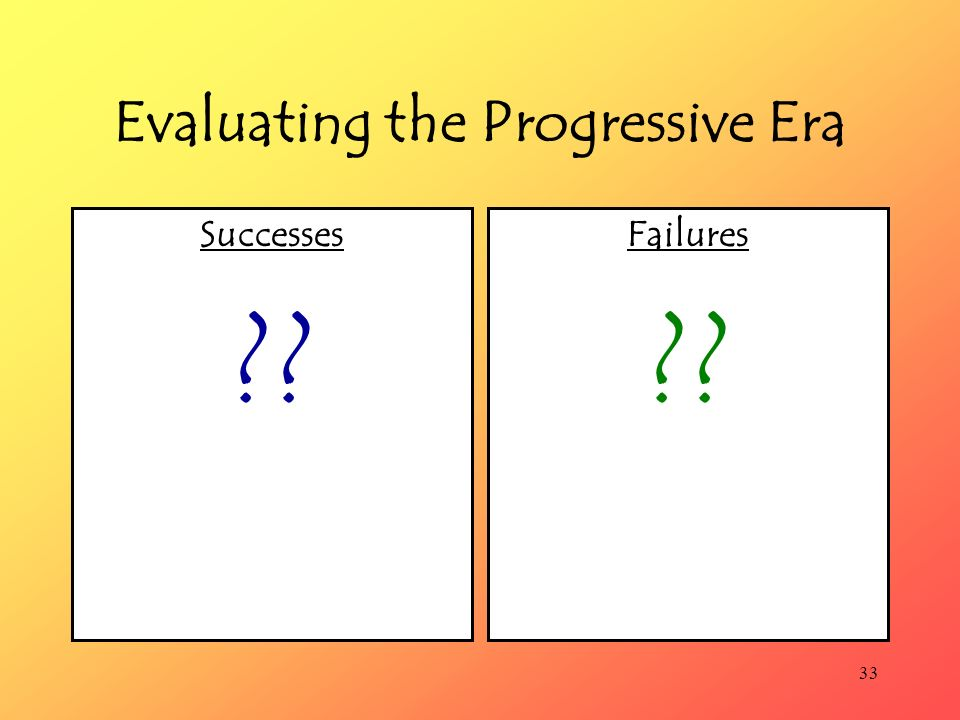 Evaluating the Progressive Era
