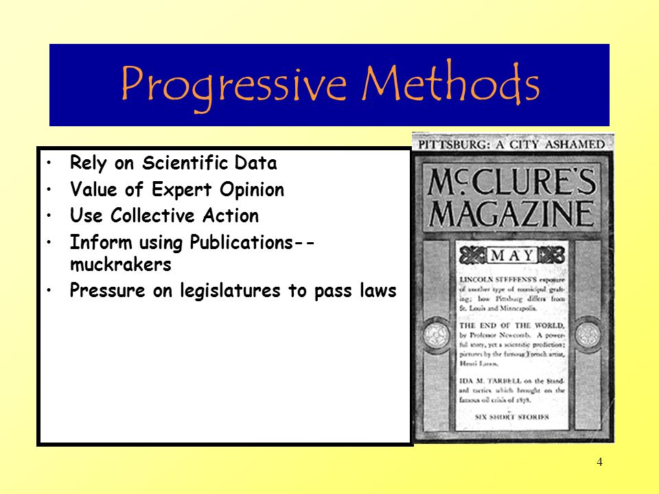 Progressive Methods Rely on Scientific Data Value of Expert Opinion