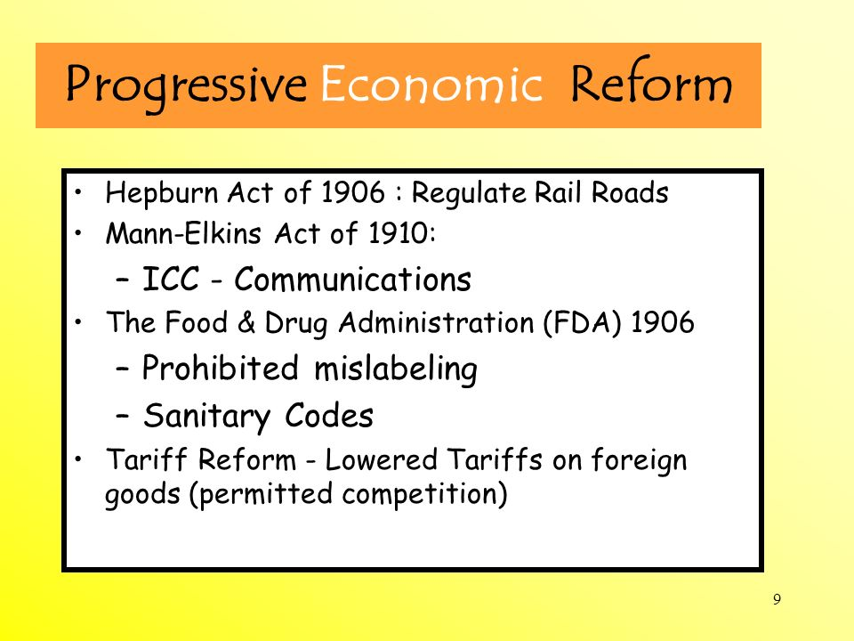 Progressive Economic Reform