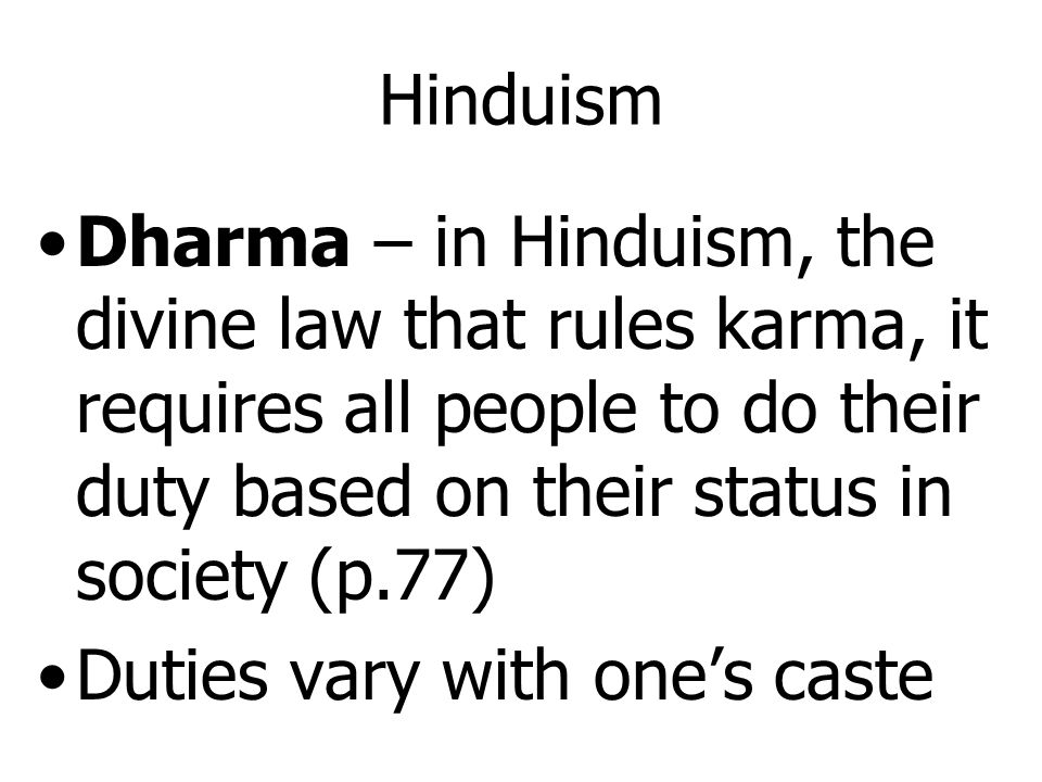 Caste System and the Varnasrama Dharma in Hinduism