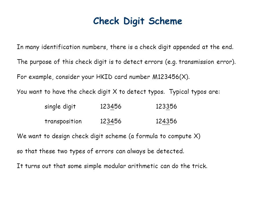 check digit schemes essay Total score: 400–1600 evidence-based reading and writing section: 200–800  math section: 200–800 sat essay: three scores ranging from 2–8.