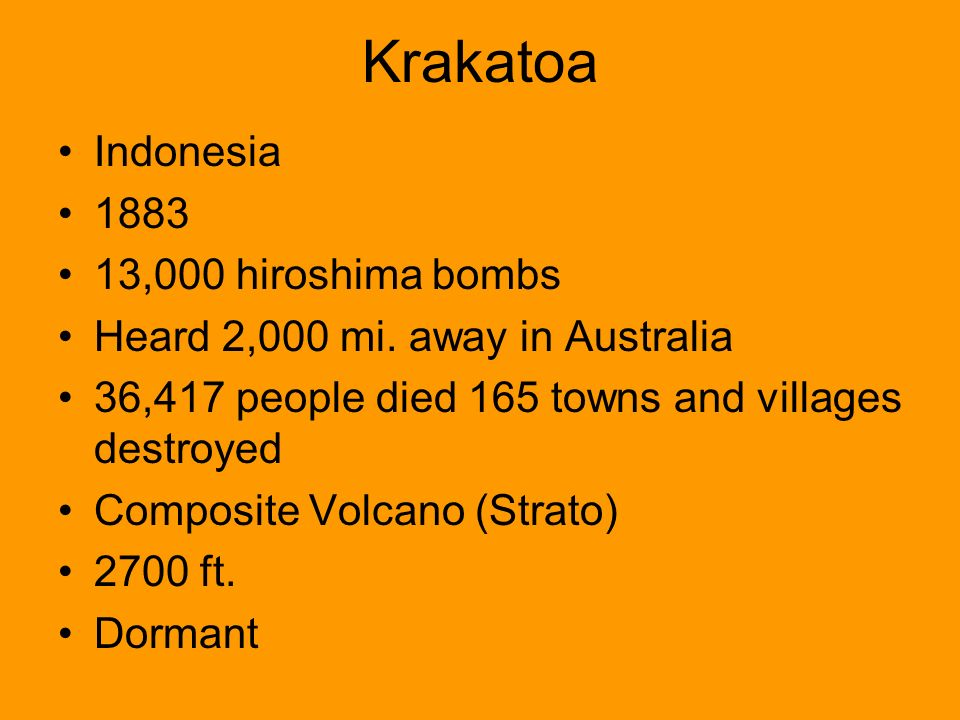 Krakatoa Indonesia 1883 13,000 hiroshima bombs