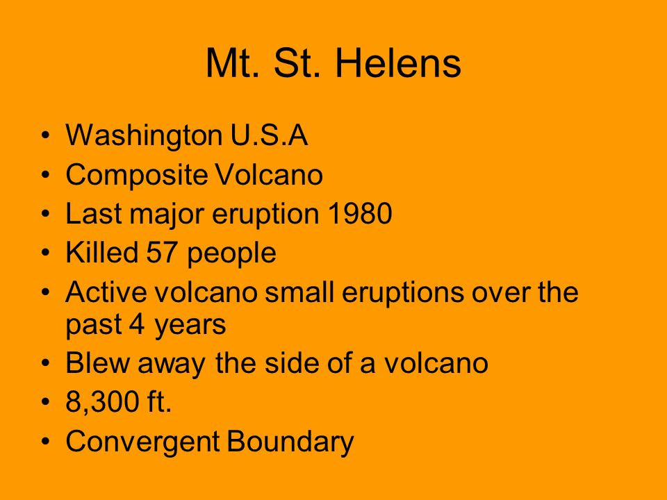 Mt. St. Helens Washington U.S.A Composite Volcano