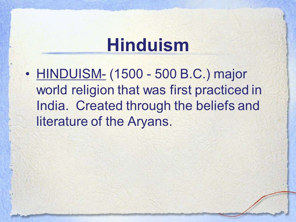Comparison Of Two Religions - Hinduism And Buddhism - Essay Example