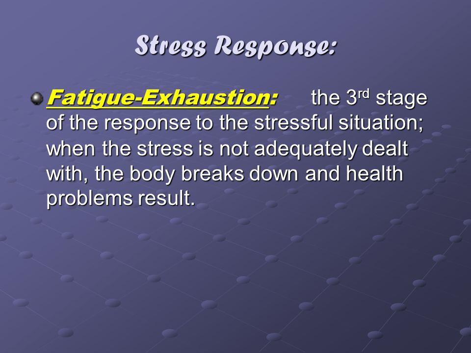 Stress Response: