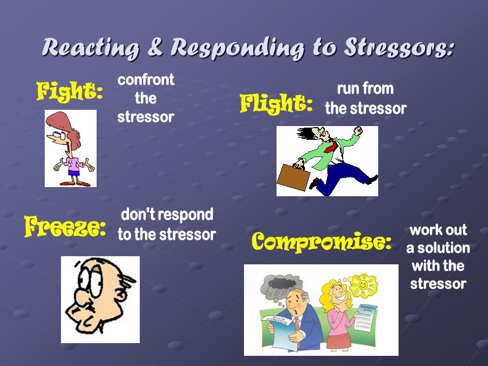 Reacting & Responding to Stressors: