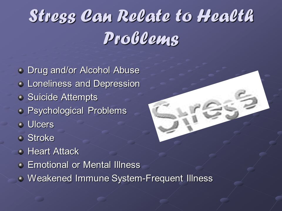 Stress Can Relate to Health Problems
