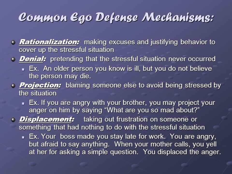 Common Ego Defense Mechanisms: