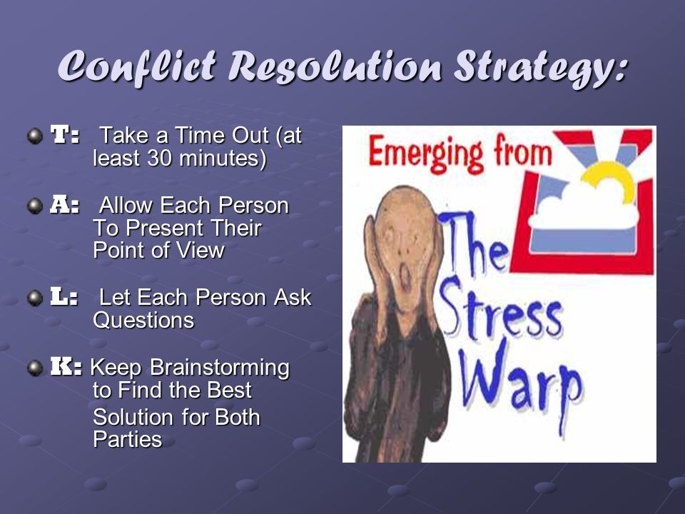 Conflict Resolution Strategy: