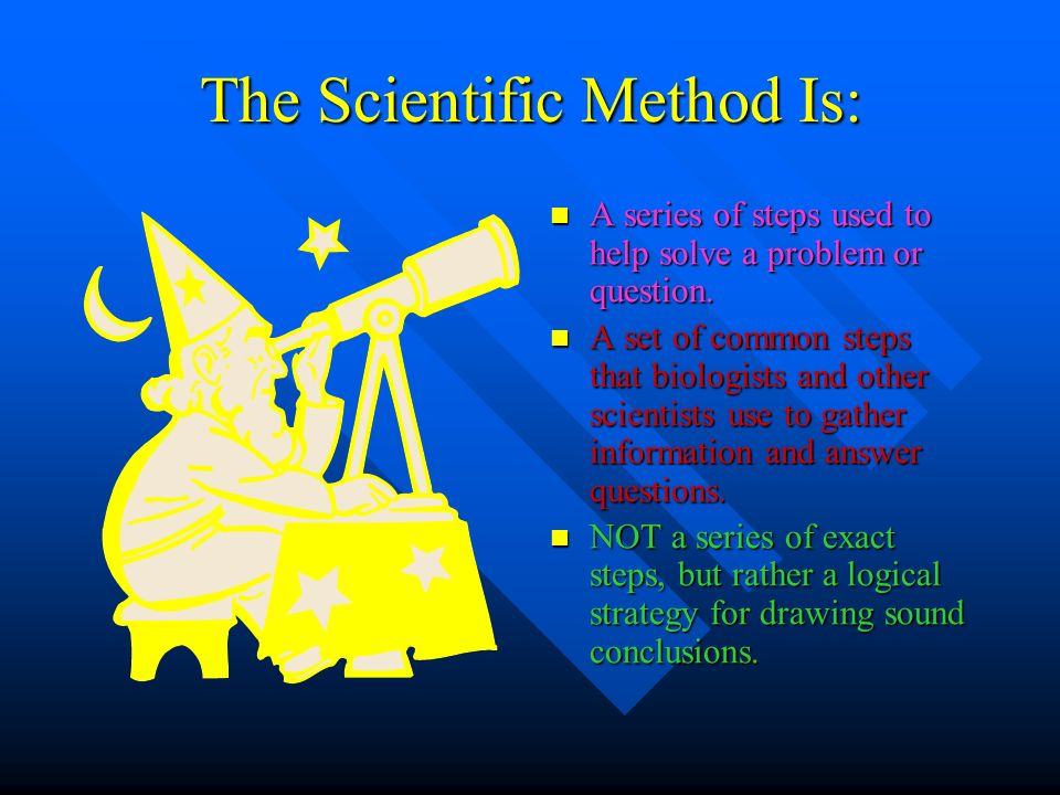 The Scientific Method Is: