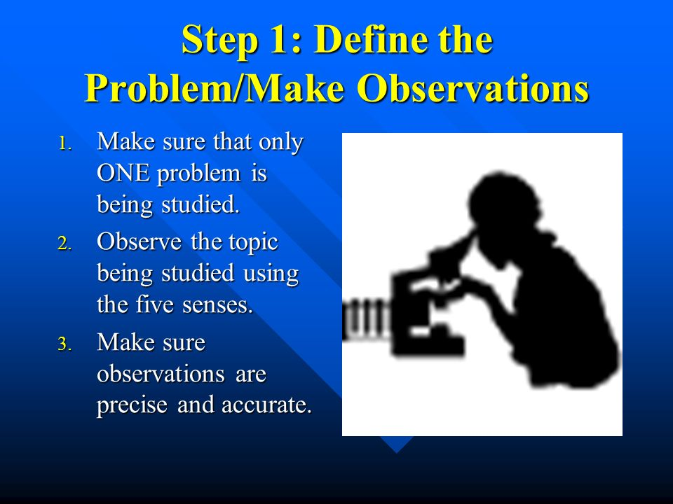 Step 1: Define the Problem/Make Observations