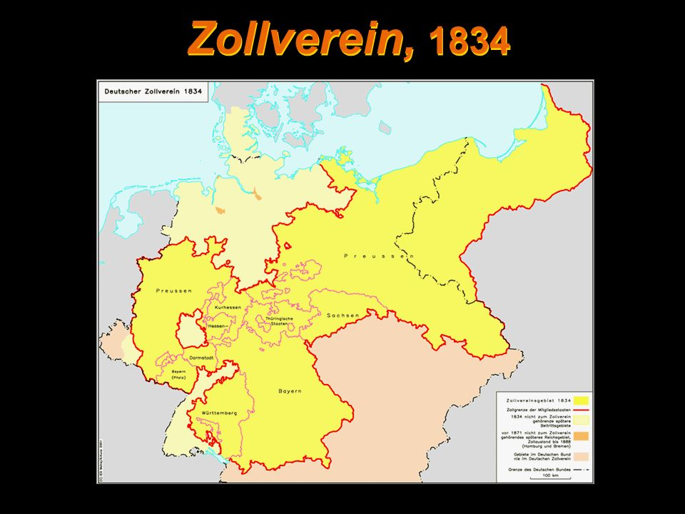 Zollverein, 1834