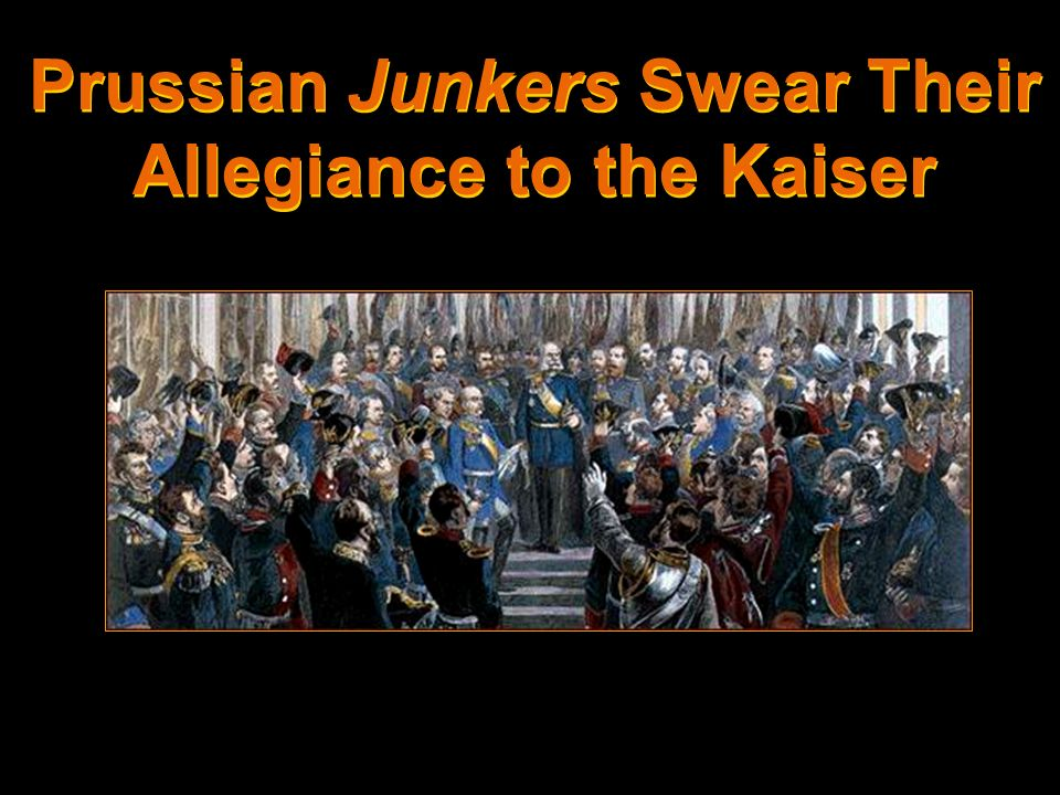 Prussian Junkers Swear Their Allegiance to the Kaiser