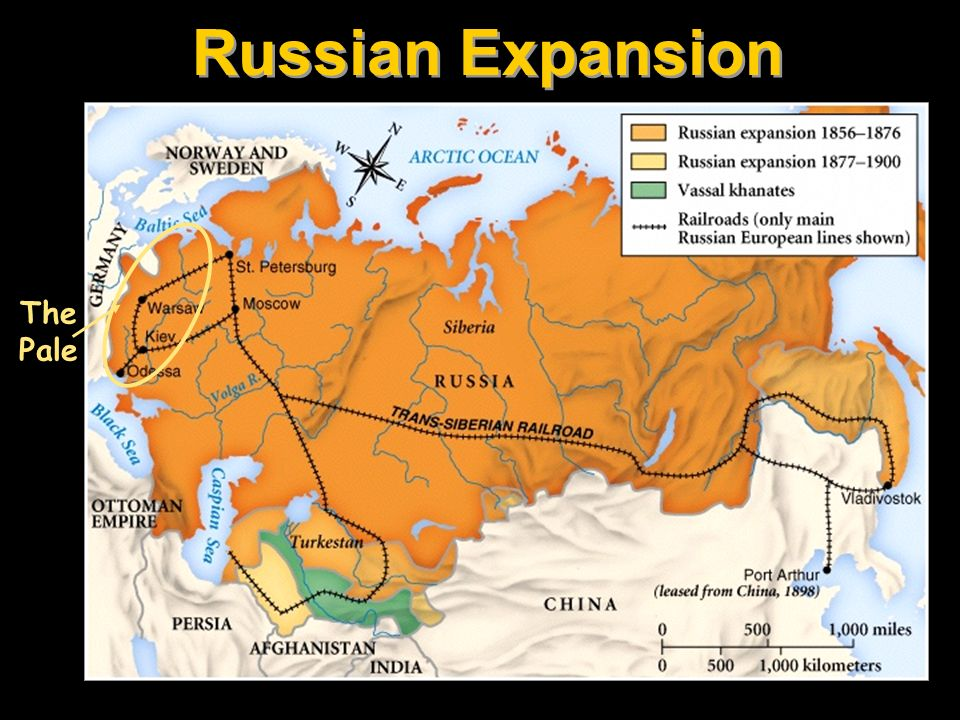 Russian Expansion The Pale