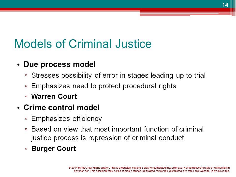 crime control model and due process model