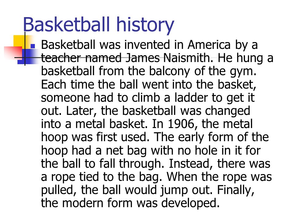 history of the origins of the game of basketball How march madness got its nickname: the origins of the term date  the first  ncaa men's basketball national championship game held in.