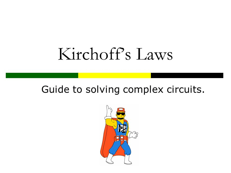 Guide to solving complex circuits.