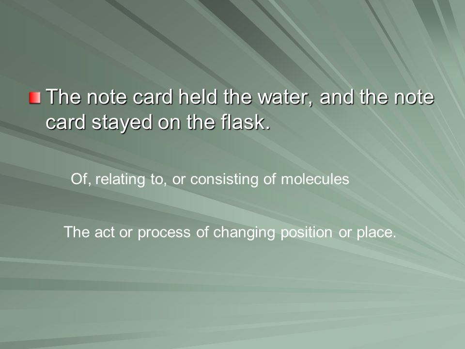 The act or process of changing position or place.