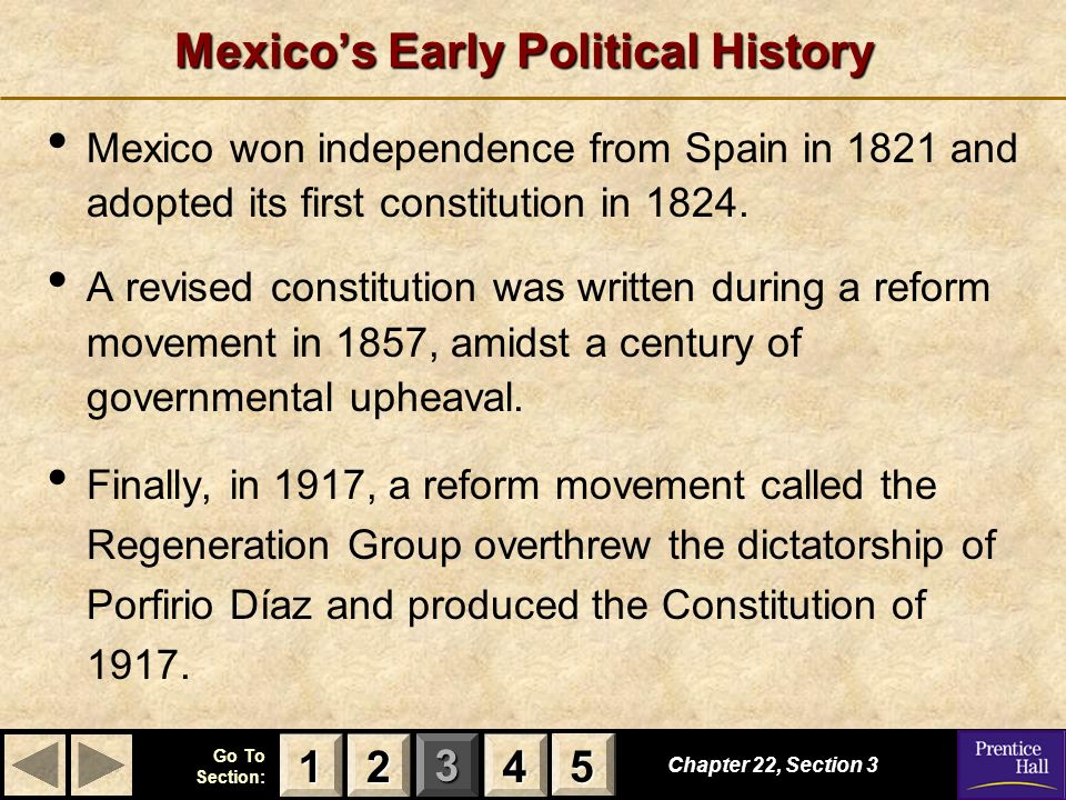 Mexico's Early Political History
