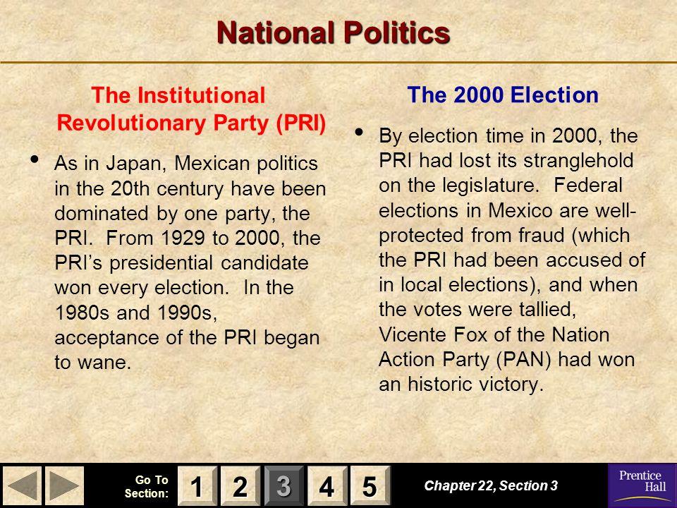The Institutional Revolutionary Party (PRI)
