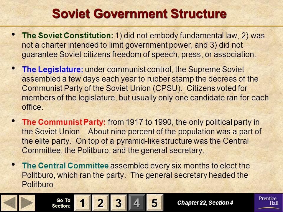 Soviet Government Structure