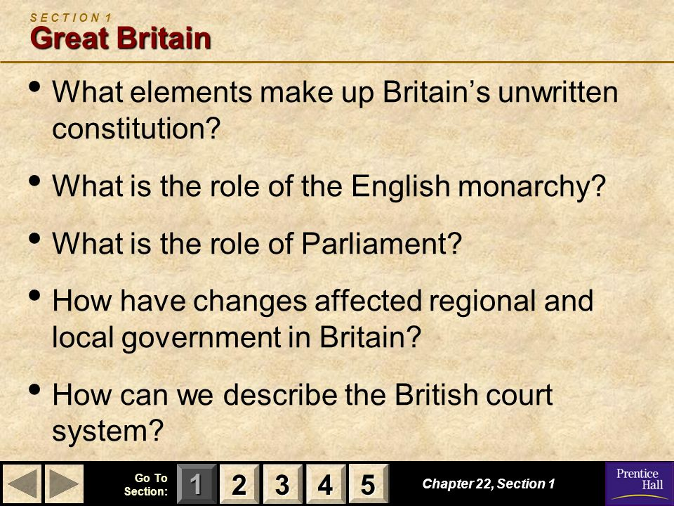 What elements make up Britain's unwritten constitution