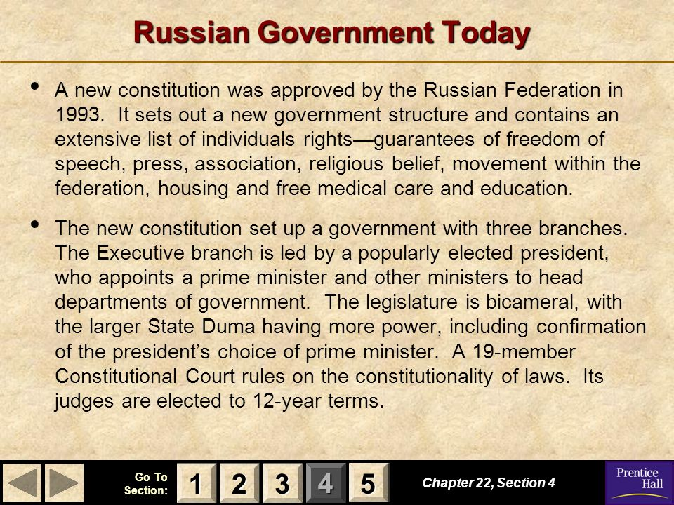 Russian Government Today