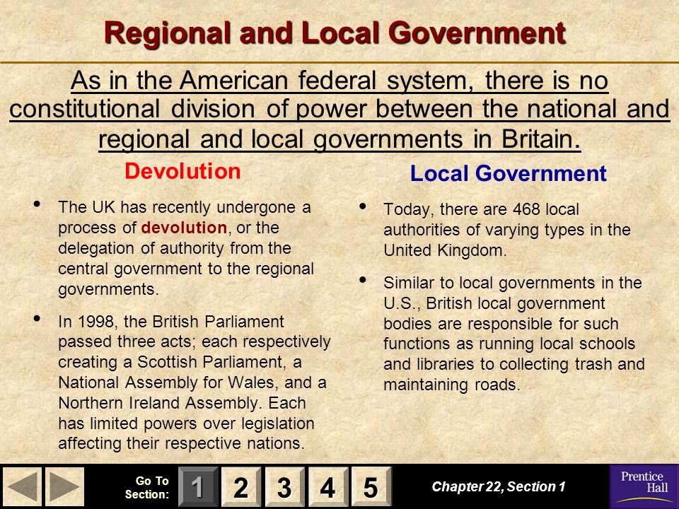 Regional and Local Government