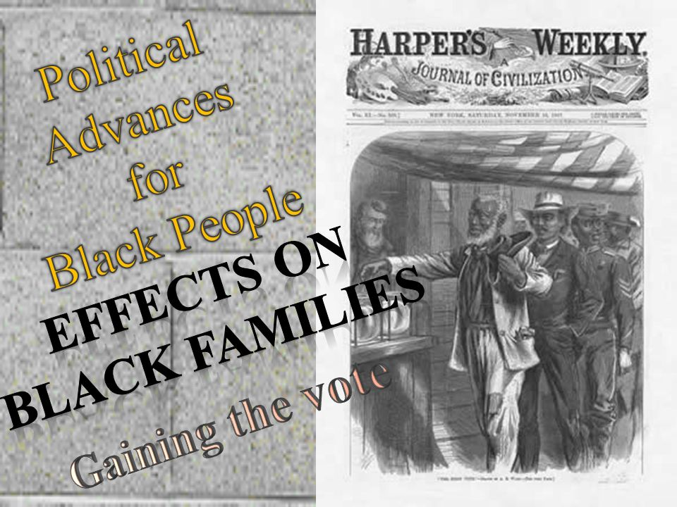 Political Advances for Black People Effects on Black families Gaining the vote