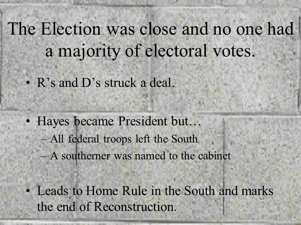 The Election was close and no one had a majority of electoral votes.
