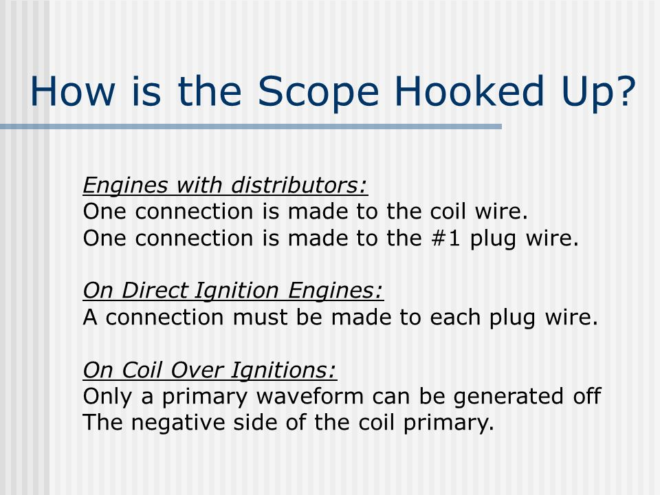 How is the Scope Hooked Up
