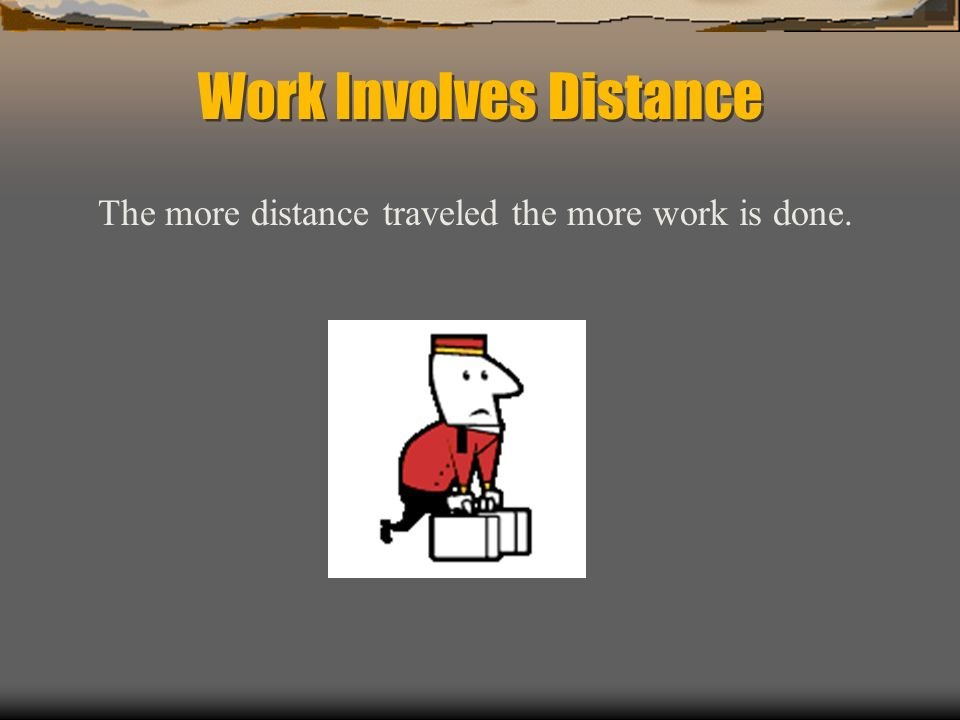 Work Involves Distance