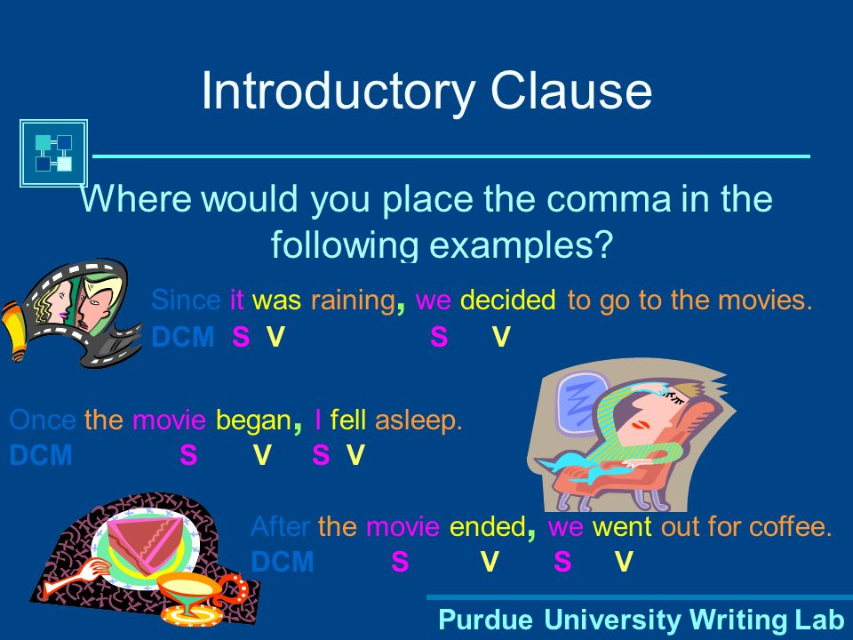 Where would you place the comma in the following examples