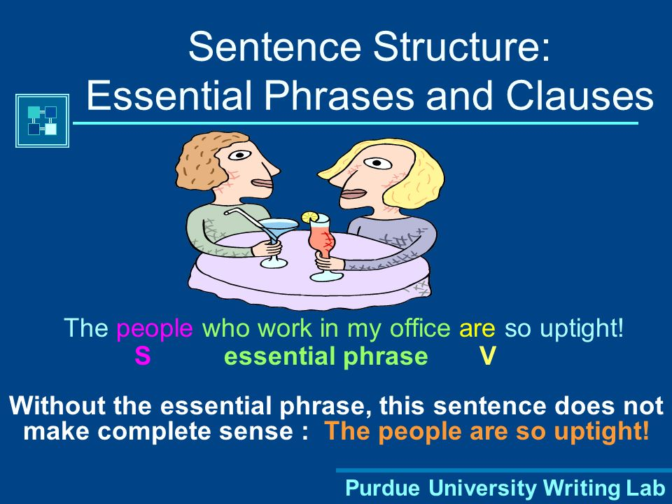 Sentence Structure: Essential Phrases and Clauses