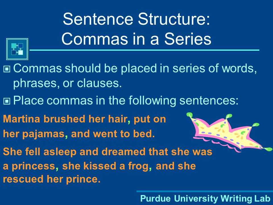 Sentence Structure: Commas in a Series