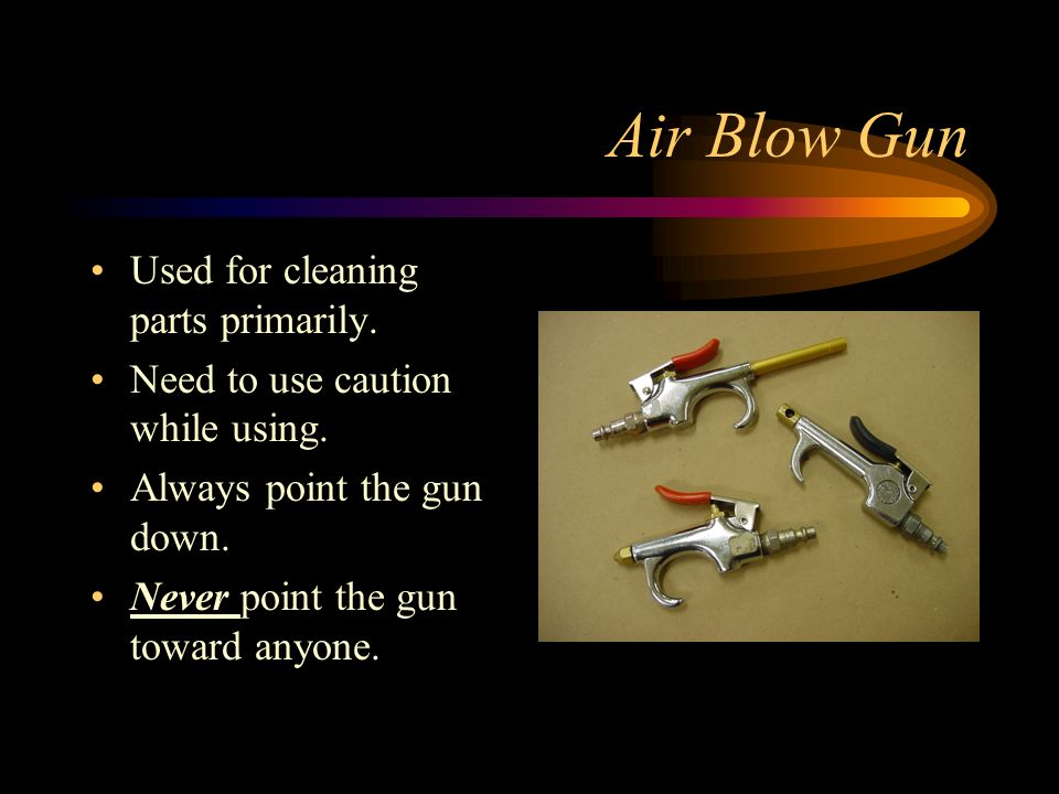 Air Blow Gun Used for cleaning parts primarily.
