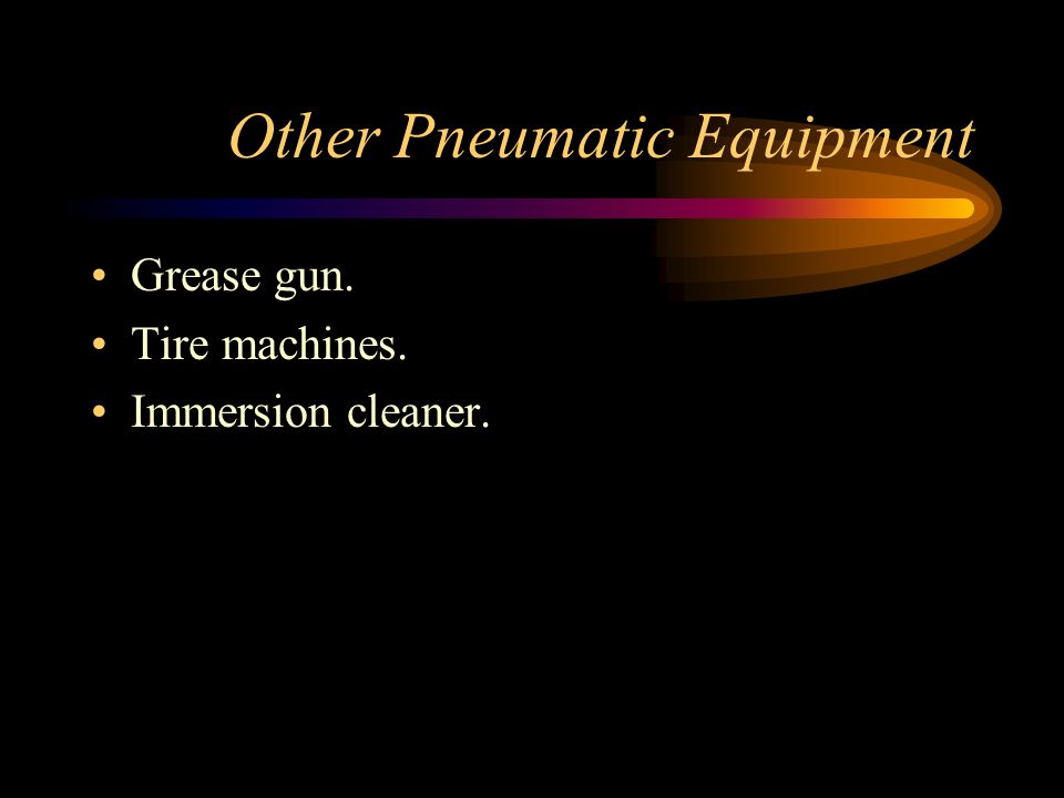 Other Pneumatic Equipment