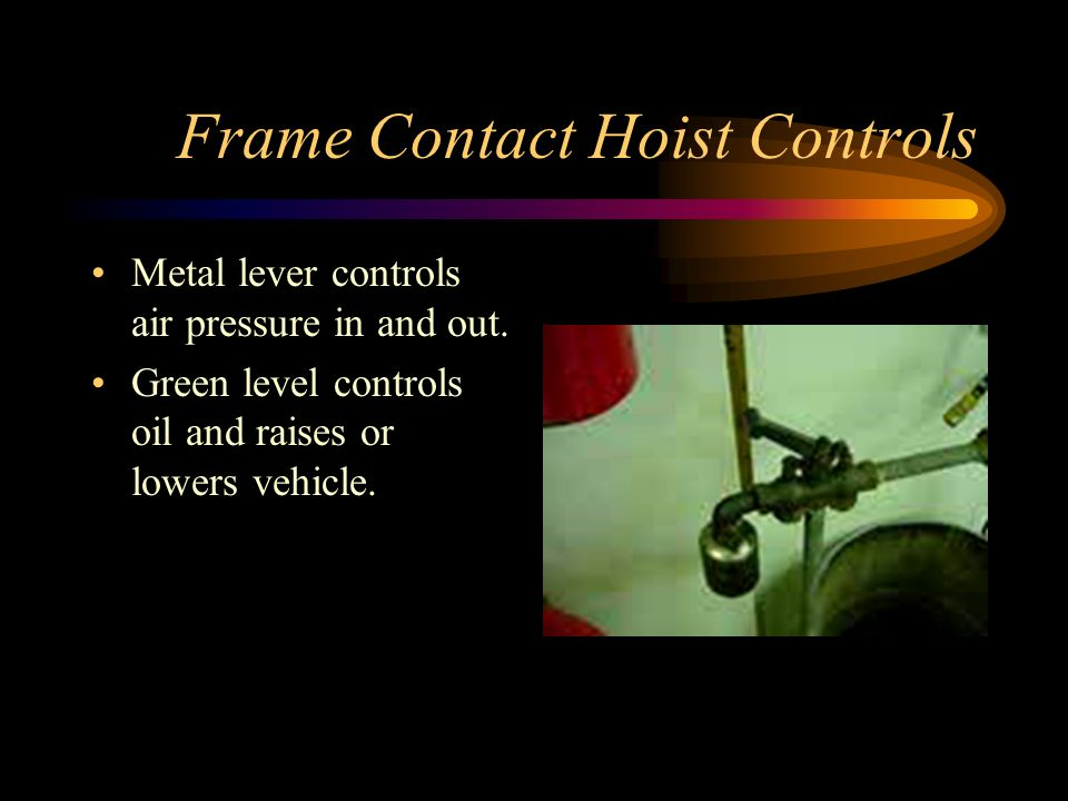 Frame Contact Hoist Controls